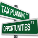 Tax Planning Opportunities street Signs